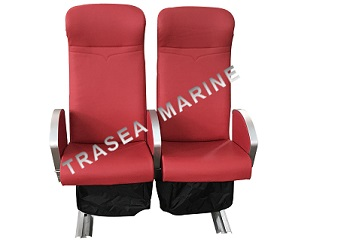 Marine seats type TRA-03 with red vinyl cover